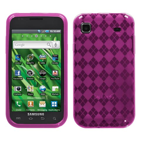 Pink Argyle TPU Case for Samsung Galaxy S 4G