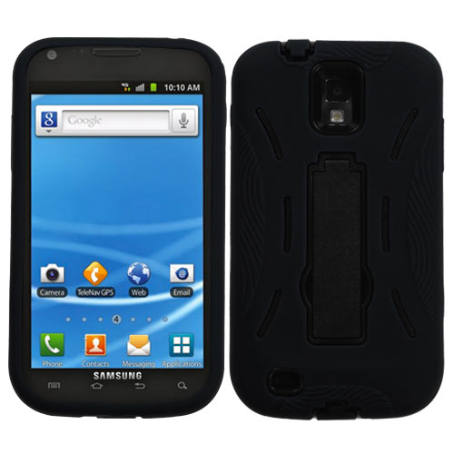 Black Dual Layer Hybrid Symbiois for Samsung Galaxy S II (T-Mobile)
