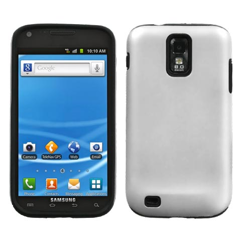 White on Black Hybrid Case for Samsung Galaxy S II (T-Mobile)