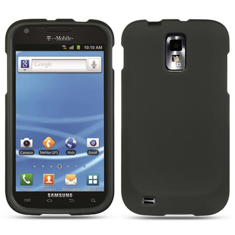 Black Rubberized Hard Case for Samsung Galaxy S II (T-Mobile)