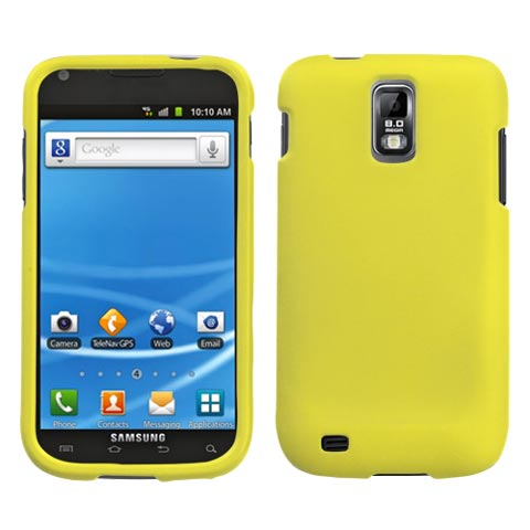 Yellow Rubberized Hard Case for Samsung Galaxy S II (T-Mobile)