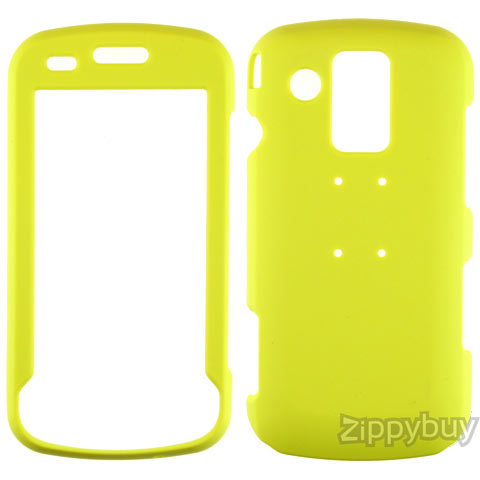 Samsung Rogue U960 Rubberized Hard Cover Case - Lemon Yellow