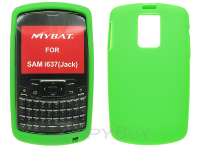 Samsung Jack i637 Silicone Skin Cover Case - Green