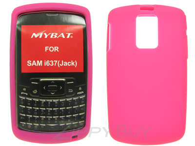 Samsung Jack i637 Silicone Skin Cover Case - Hot Pink