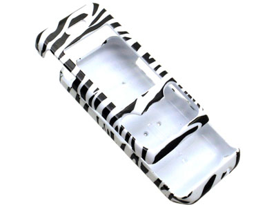 Sony Ericsson W580i Snap On Faceplate Case (Zebra)