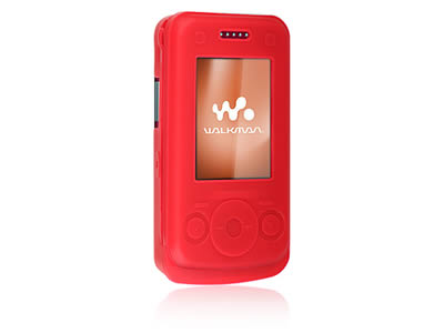 Sony Ericsson W760 Silicone Skin Cover Case - Red