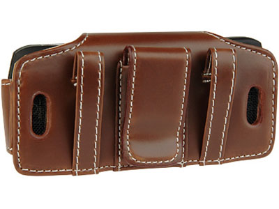 Primo Leather Pouch for Motorola L6 (Brown)