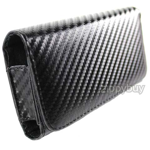 Carbon Fiber Series Leather Case for Apple iPhone 4