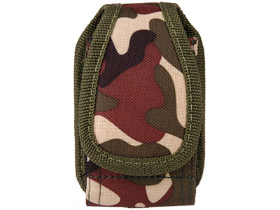 Rugged Vertical Pouch for Sony Ericsson W300 / Z530 (Camouflage Green)