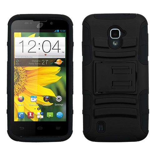 Black Armor Dual Layer Hybrid Case for ZTE Source