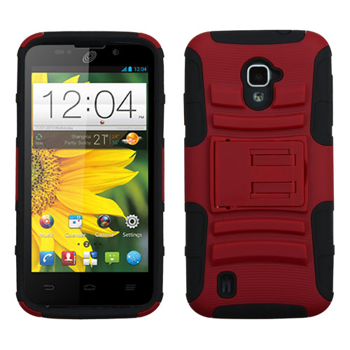 Red Armor Dual Layer Hybrid Case for ZTE Source