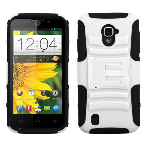 White Armor Dual Layer Hybrid Case for ZTE Source