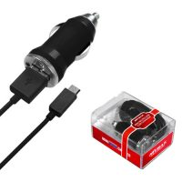 Black Mini Micro USB Car Charger for Samsung Mythic