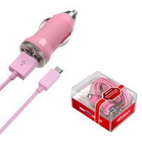 Pink Mini Micro USB Car Charger for Samsung Mythic