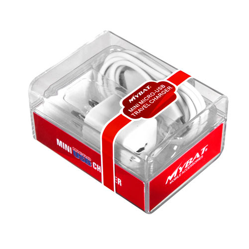 White Mini Micro USB Home / Travel Charger for LG Tribute
