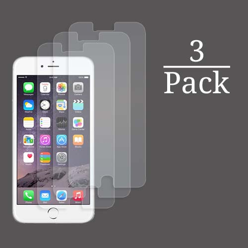 3x Multi-Pack Crystal Clear Screen Protectors for Apple iPhone 6S Plus