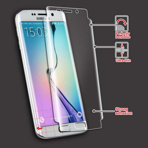 2x Multi-Pack Crystal Clear Screen Protectors for Samsung Galaxy S6 Edge