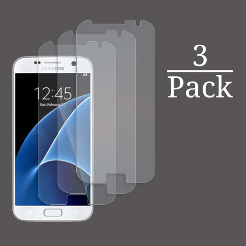 3x Multi-Pack Crystal Clear Screen Protectors for Samsung Galaxy S7